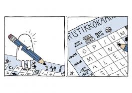 Kummitus-kortti - Kummitus tekee ristisanatehtävää