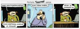 Fingerpori-sarjakuvataulu - Elias Tapani Karhu