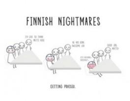 Finnish Nightmares -postikortti - Getting praised