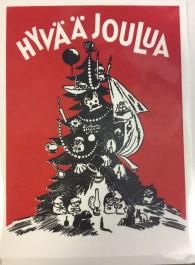 Tove Jansson - 2-osainen muumipostikortti-Hyvää joulua.