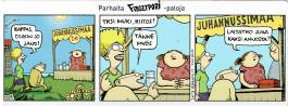 Fingerpori-sarjakuvataulu - Juhannussimaa