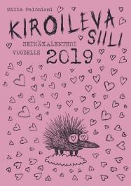 Kiroileva siili -seinäkalenteri vuodelle 2019