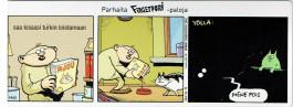 Fingerpori-sarjakuvataulu - Loistava kissa