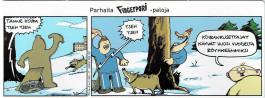 Fingerpori-sarjakuvataulu - Koiran kusettajat