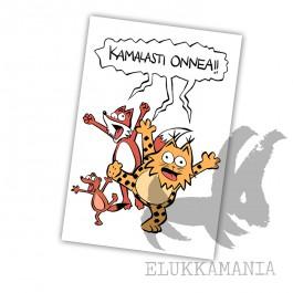 Kamala Luonto / Kamalasti onnea!! -kortti
