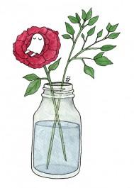 Kummitus-kortti - Kummitus ruusussa