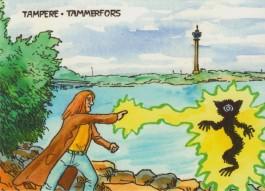 Kapteeni Kuolion Tampere -postikortti