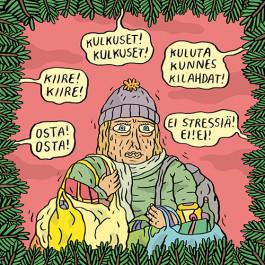 Fok_It-joulukortti - Kuluta kunnes kilahdat!