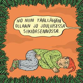 Fok_It-joulukortti - Sikiöasento