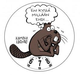 Kamala Luonto -parkkikiekko - Majava