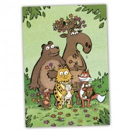 Kamala Luonto onnittelu-postikortti