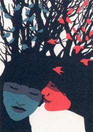 Kissing behind the Barricades -postikortti - Poskipusu