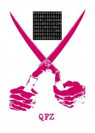 Binary-koodi ja sakset -postikortti