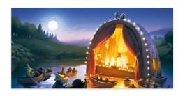 Muumi-panoramapostikortti - Vaarallinen juhannus
