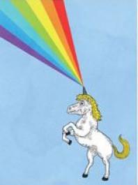 Säihkyturpa ja sateenkaari -postikortti 1 (Fok_it)