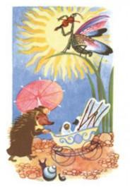 Tove Jansson -postikortti - Siili ja lastenrattaat
