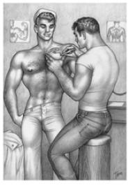 Tom of Finland / The Tattooed Sailor -postikortti