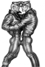 Tom of Finland / Leather Duo -postikortti