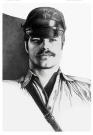 Tom of Finland / Koppalakkimies -postikortti