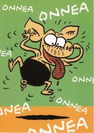 Viivi ja Wagner -postikortti - Onnea onnea
