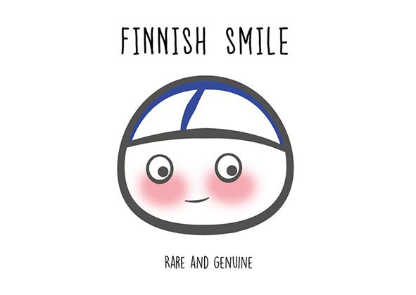 Finnish Nightmares -postikortti - Finnish smile - rare and genuine