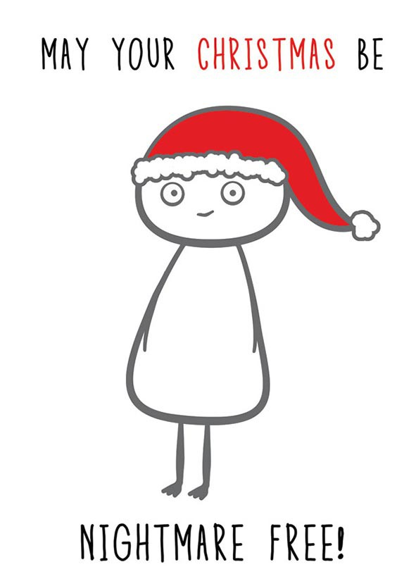 Finnish Nightmares -joulukortti - May your Christmas be nightmare free!