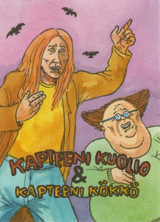 Kapteeni Kuolio & Kapteeni Kökkö -postikortti