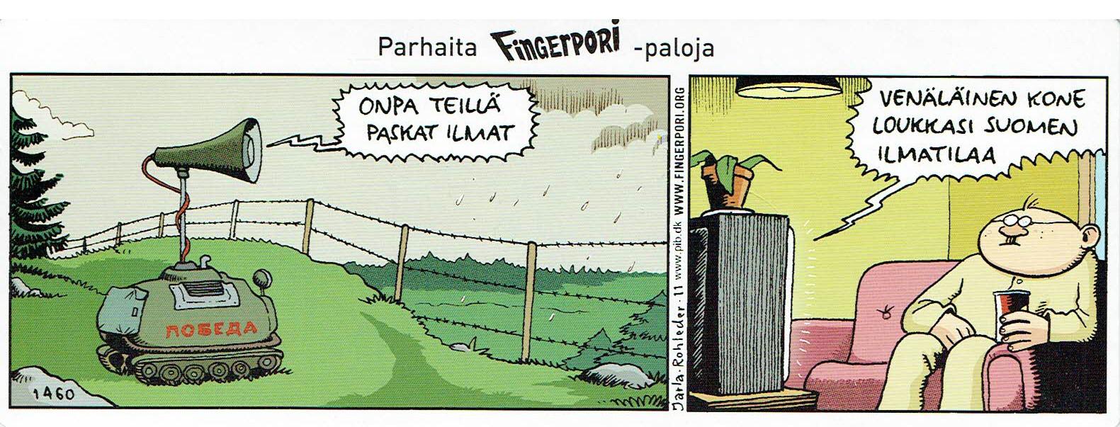 Fingerpori-sarjakuvataulu - Paskat ilmat