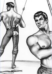 Tom of Finland / Onkimiehet -postikortti