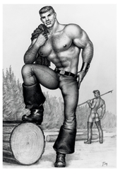 Tom of Finland / Metsätyömiehet -postikortti