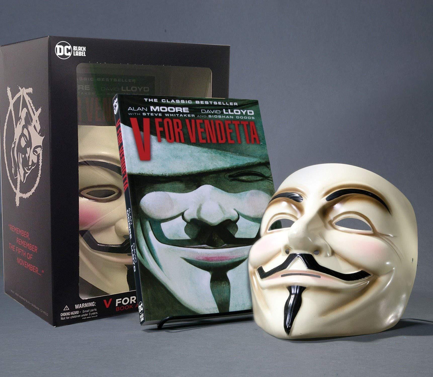 V for Vendetta Book and Mask Set