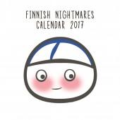 Finnish Nightmares -seinäkalenteri 2017