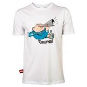 Fingerpori t-paita SUOMI VOITTOON! (valkoinen)