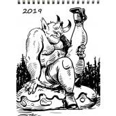 Troll of Finland -seinäkalenteri 2019