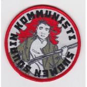 Suomen suurin kommunisti -kangasmerkki