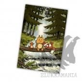 Kamala Luonto pennut -postikortti