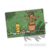 Kamala Luonto rakastunut hirvi -postikortti