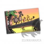 Kamala Luonto jonossa -postikortti