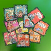 Fok_It-joulukorttilajitelma (10 erilaista korttia)