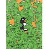 Krokotiilit ja pingviini -postikortti (Fok_it)