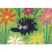 Kiroileva siili -postikortti - Kukkaniityllä