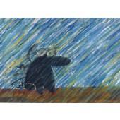 Kiroileva siili -postikortti - Sade