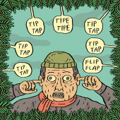 Fok_It-joulukortti - Tip tap tipe tipe tip tap