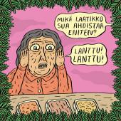 Fok_It-joulukortti - Lanttu