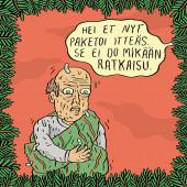 Fok_It-joulukortti - Hei et nyt paketoi itteäs