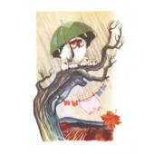Tove Jansson -postikortti - Pöllö pitää sadetta