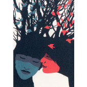 Kissing behing the Barricades -postikortti - Poskipusu