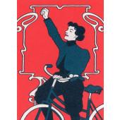 Kissing behing the Barricades -postikortti - Pyöräillen voittoon!