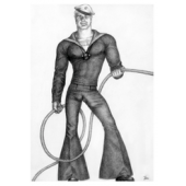 Tom of Finland / Sailor -postikortti