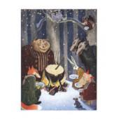 Tove Jansson -postikortti - Metsän eläimet